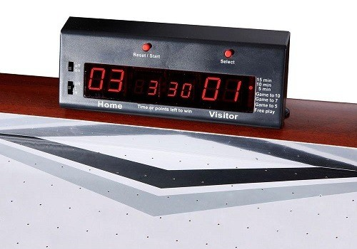 Air Hockey Scoreboard on an Air Hockey Table