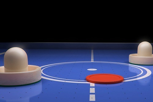 Artistic shot of Air Hockey