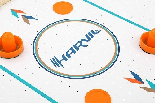 Harvil Air Hockey Table With Electronic Scoring Pucks and Paddles