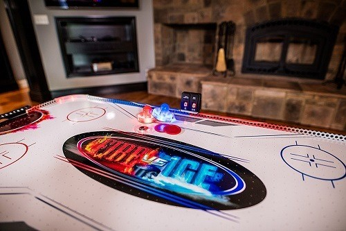 Triumph Fire 'n Ice LED Light-Up Air Hockey Table Top
