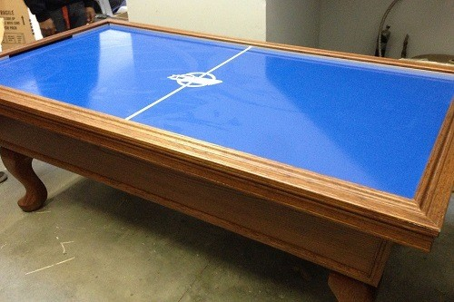 Example of a Wood Air Hockey Table