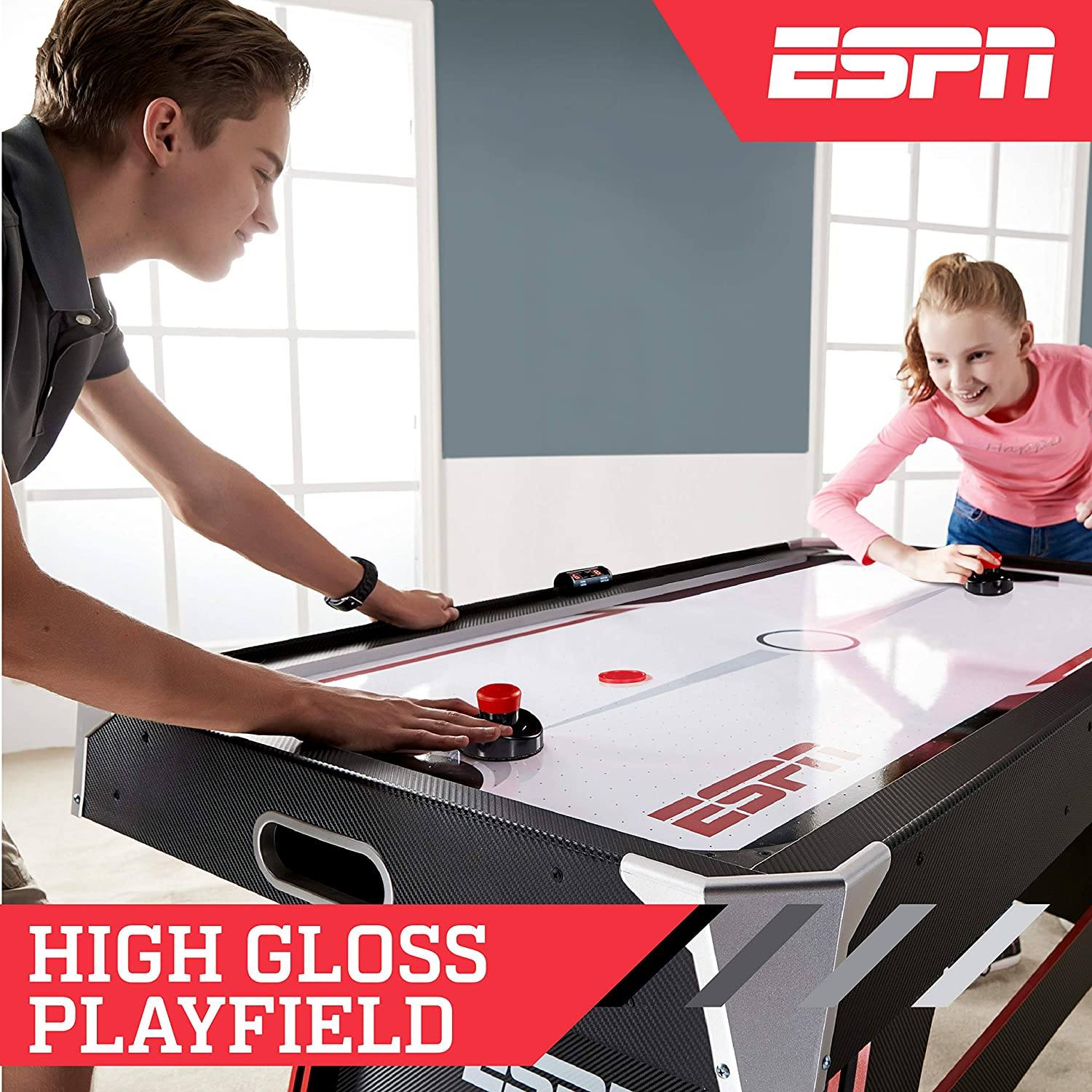 ESPN 5' Air Powered Hockey Table with LED Electronic Features