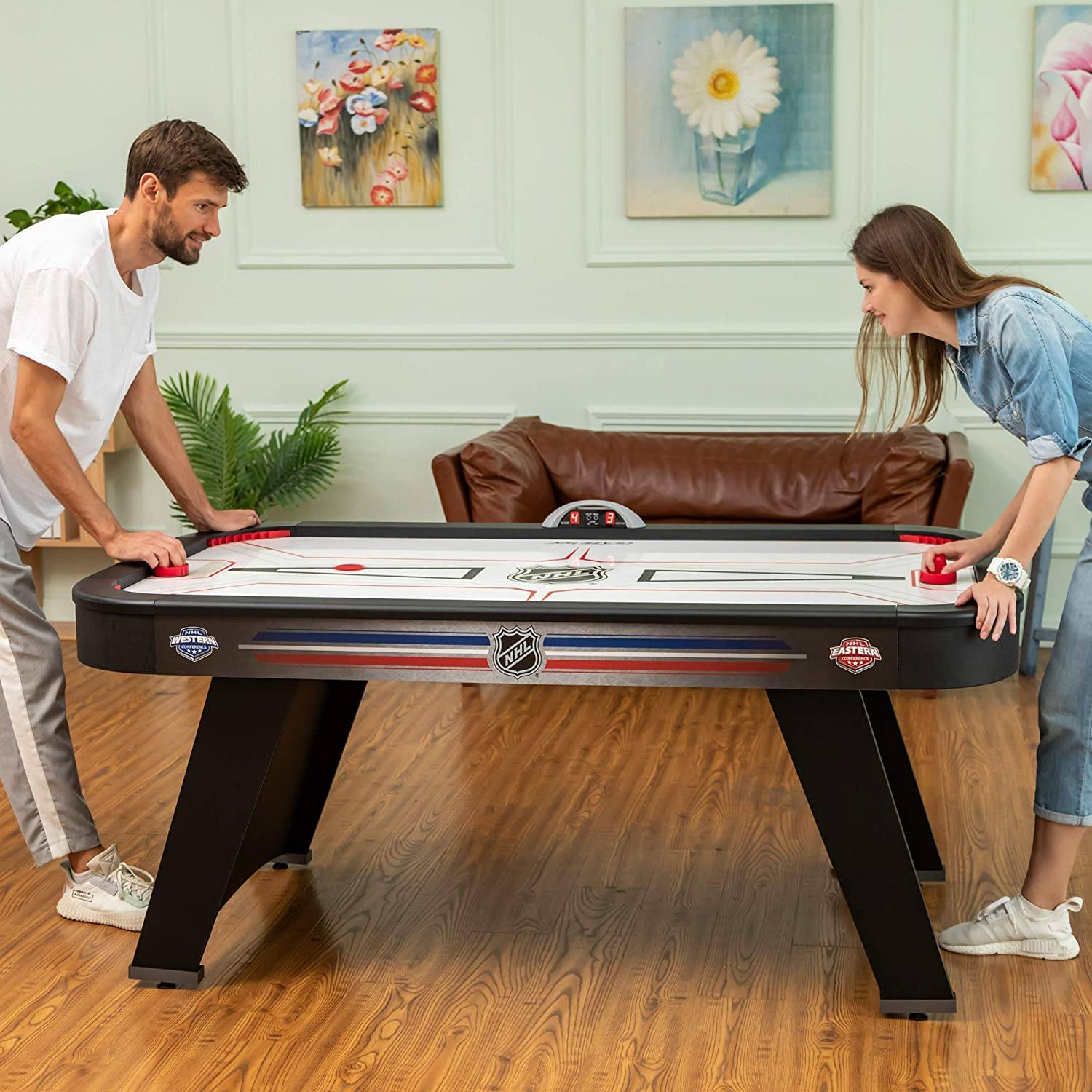 Eastpoint 72 Mid-Size NHL Air Attack Indoor Hover Hockey Table Features