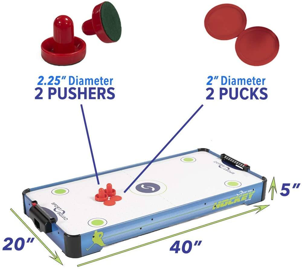 Sport Squad HX40 40 inch Table Top Air Hockey Table Specs
